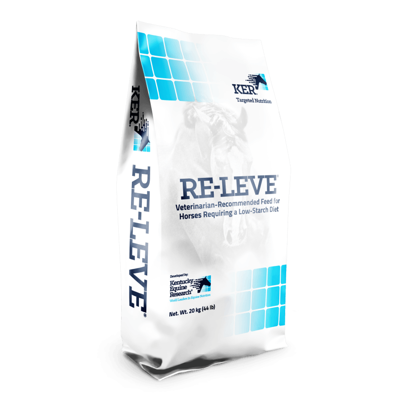 RE-LEVE low-starch horse feed for tying-up